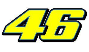 46 Valentino Rossi blau - Motorrad Aufkleber