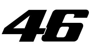 46 Valentino Rossi einfarbig - Motorrad Aufkleber