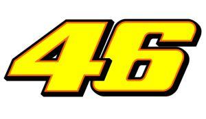 46 Valentino Rossi orange - Motorrad Aufkleber