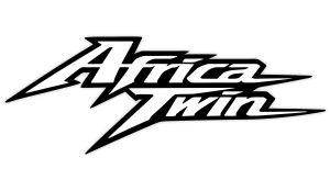 Africa Twin Aufkleber Schwarz Weiss