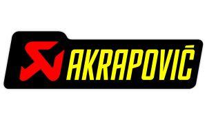 Akrapovic Aufkleber gelb - Sponsoren Sticker Motorrad