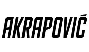 Akrapovic Aufkleber Logo kurz - Sponsoren Sticker Motorrad