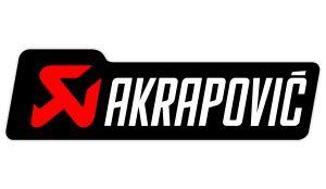 Akrapovic Aufkleber weiss - Sponsoren Sticker Motorrad