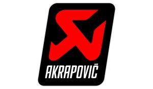 Akrapovic Logo Aufkleber Knalpot rot - Sponsoren Sticker Motorrad