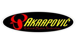 Akrapovic Sticker oval gelb - Sponsoren Sticker Motorrad