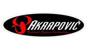 Akrapovic Sticker oval weiss - Sponsoren Sticker Motorrad
