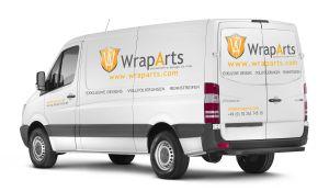 Autowerbung -  Logo, Domain, Anschrift & Produkte