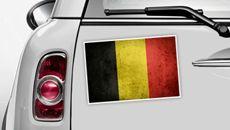 Belgien Flagge - WM 2014 Sticker