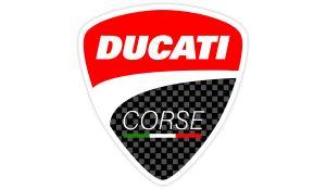 Ducati Corse Carbon Aufkleber - Motorrad Aufkleber