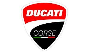 Ducati Corse schwarz Aufkleber - Motorrad Aufkleber
