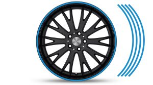 Felgenrandaufkleber GP Style Blau