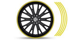 Felgenrandaufkleber GP Style Gelb