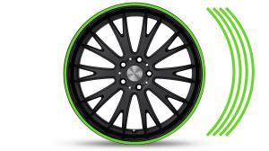 Felgenrandaufkleber GP Style Grün