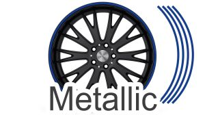 Felgenrandaufkleber GP Style Metallic Dark Blue