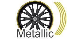 Felgenrandaufkleber GP Style Metallic Gold