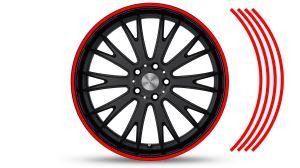 Felgenrandaufkleber GP Style Rot