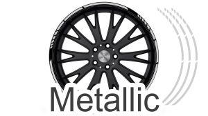 Felgenrandaufkleber GP Style Metallic Silber