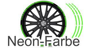 Felgenrandaufkleber GP Style Neon Grün