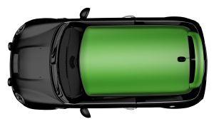 MINI Dach-Folierung - Glänzend Alien Green
