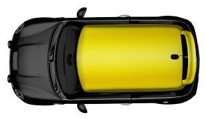 MINI Dach-Folierung - Glänzend Lemon Yellow