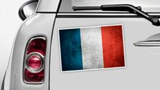 Frankreich Flagge - WM 2014 Sticker