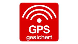 "Aufkleber ""GPS gesichert"""