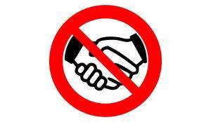 Corona Virus - Hände schütteln verboten Sticker