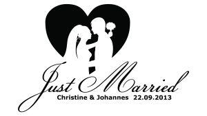Just Married - Hochzeitsaufkleber