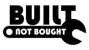 JDM Aufkleber - built not bought