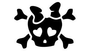JDM Aufkleber - Girly Skull