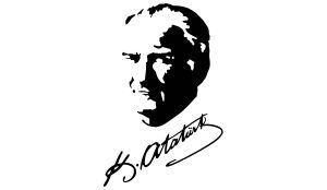 Kemal Atatürk Unterschrift mit Portrait Aufkleber