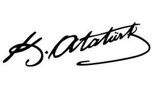 Kemal Atatürk Unterschrift Aufkleber