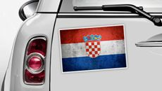 Kroatien Flagge - WM 2014 Sticker