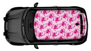 MINI Dachdesign Folie - Pink Flowers