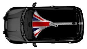 MINI Dachdesign Folie - UK Flag Zipper