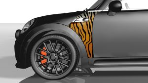 MINI Wings Folie - Indian Royal Tiger