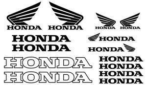 Honda Set - Motorrad Sponsoren Aufkleber
