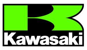 Kawasaki 4 - Motorrad Sponsoren Aufkleber