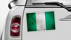 Nigeria Flagge - WM 2014 Sticker