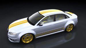 Ralleystreifen -  Doppelte Rennstreifen mit Raceflag 01