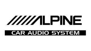 Alpine Car Audio System - Sponsoren Aufkleber