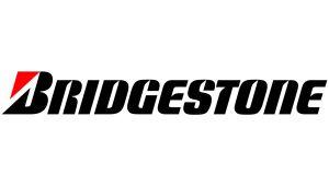 Bridgestone Schwarz Rot - Sponsoren Aufkleber