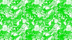 Stickerbomb Folie Grün