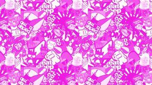 Stickerbomb Folie Pink