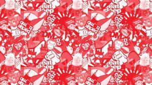 Stickerbomb Folie Rot