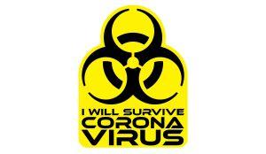 Coronavirus Aufkleber - Survive Corona Virus
