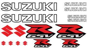 Suzuki GSV-R Set 1 - Motorrad Sponsoren Aufkleber