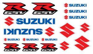 Suzuki GSV-R Set 2 - Motorrad Sponsoren Aufkleber