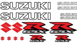 Suzuki GSX-R Set 1 - Motorrad Sponsoren Aufkleber
