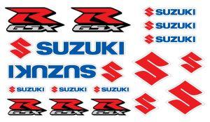 Suzuki GSX-R Set 2 - Motorrad Sponsoren Aufkleber